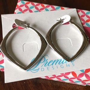 Premier Designs Silver Hoop Earrings